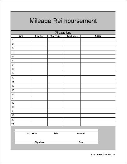 mileage reimbursement form excel - Deanroutechoice - Mileage Reimbursement Forms