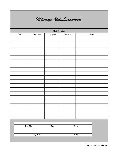 mileage reimbursement form pdf - Ozilalmanoof - Mileage Reimbursement Forms