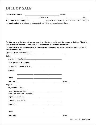 personal property bill of sale template - Romeolandinez