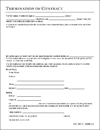contract signature page template