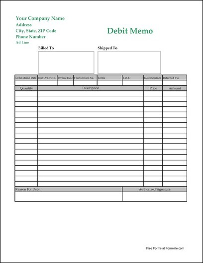 debit memo - Maggilocustdesign - debit memo template