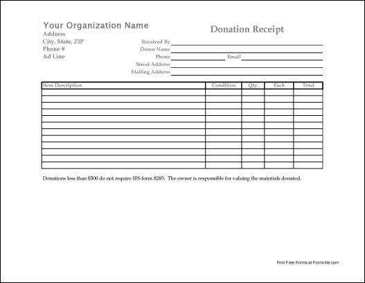 free donation template - Maggilocustdesign - Donation Form Templates