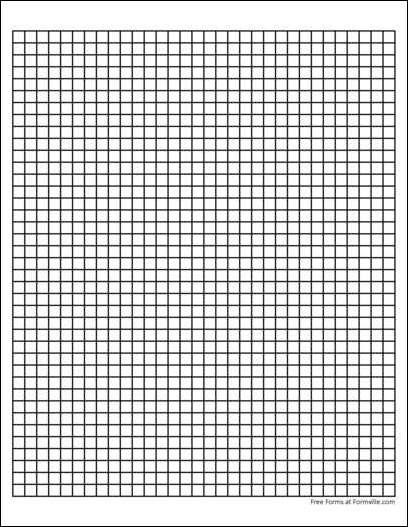 printable graph paper 10 squares per inch
