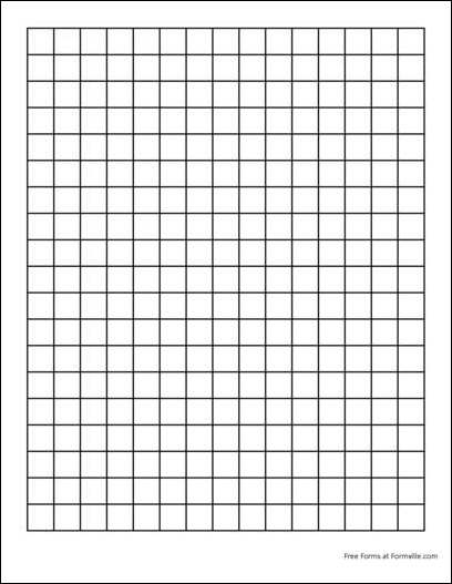 Free Graph Paper (2 Squares per Inch Heavy Black) from Formville - standard graphing paper