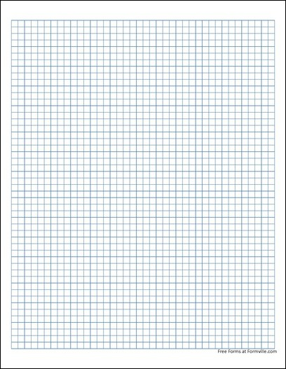 Free Graph Paper (5 Millimeter Solid Blue) from Formville - standard graphing paper