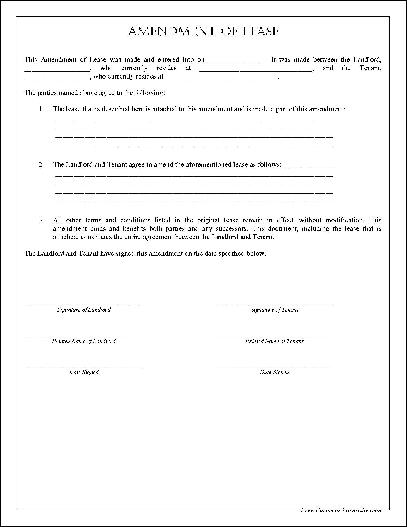 Amendment To Rental Agreement  Resume Maker Create Professional