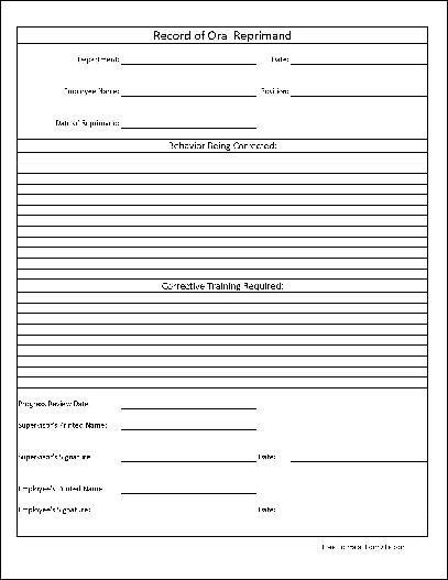 Employee Write Up Form Free Download – Employee Write Up Form