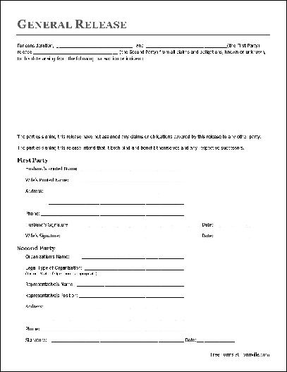 Free Basic Release Form (Husband and Wife to Organization) from