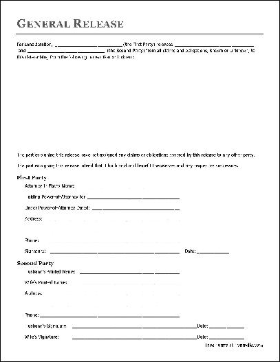 Free Basic Release Form (Attorney-in-Fact to Husband and Wife - free release of liability form