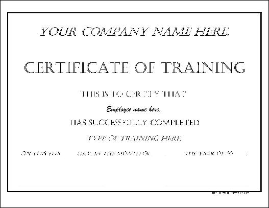 Free Impressive Dated Training Certificate from Formville - free training certificates