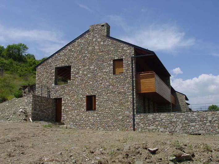 Casa pasiva en madera y piedra en Navarra    ventacasasdemadera
