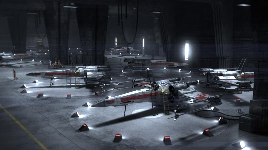 Wallpaper Planet 3d Hangar X Wing