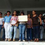 Se manifiestan trabajadores del SETSUV