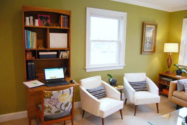Room to Work Your Office in the Living Room - desk in living room