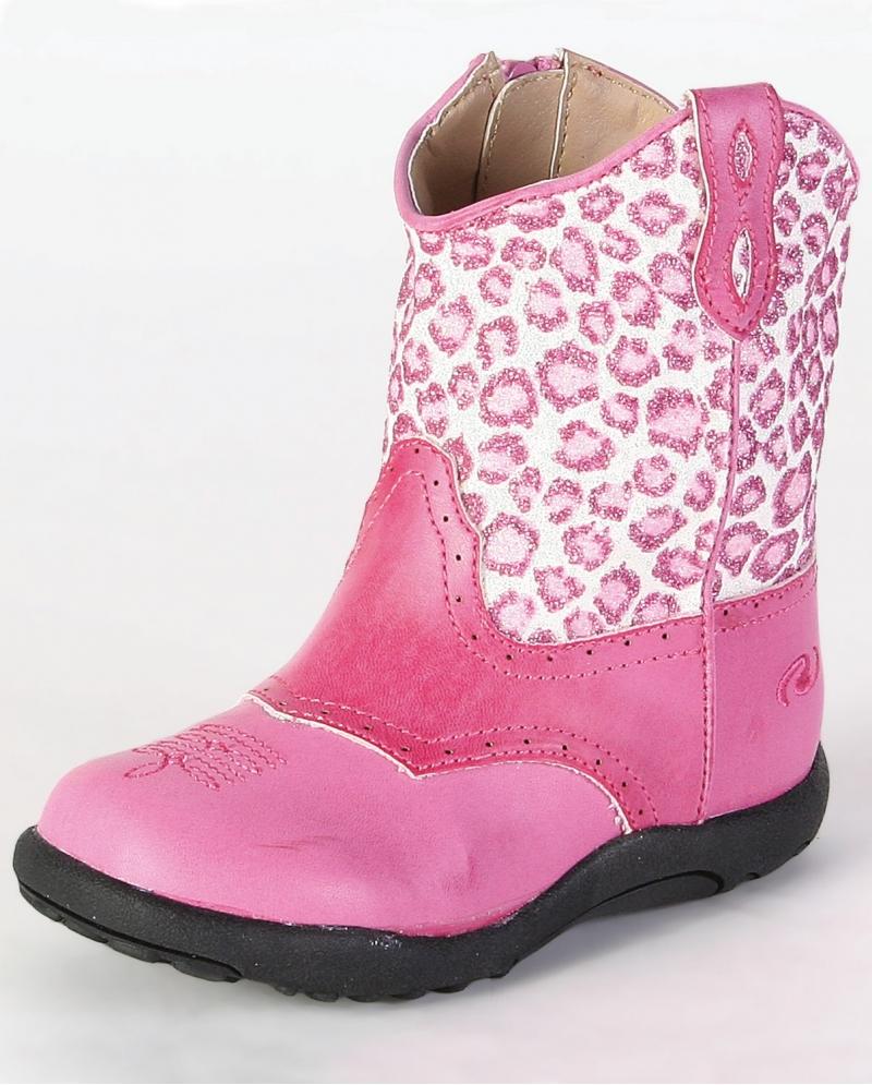 Roperr Kids39 Western Leopard Boots Infant Fort Brands