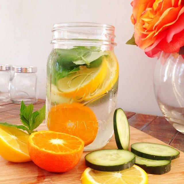 cucumber orange mint water