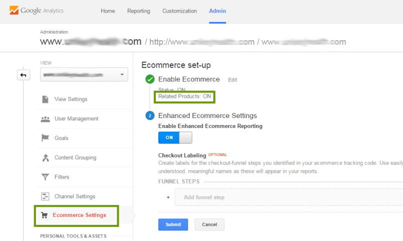 Google Ecommerce Related Products