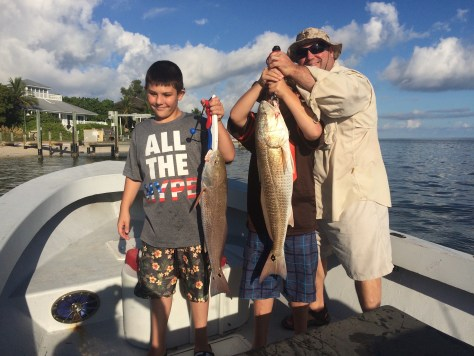 Fort Myers Fishing Report, Two Redfish, Friday, September 30, 2016.