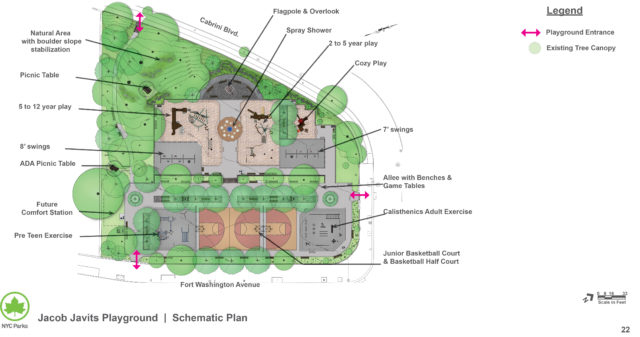 Javits Playground Schematic Design Approved! Fort Tryon Park Trust
