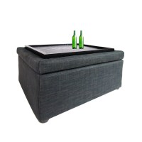 Ottoman Coffee Table Grey | Furniture & Home Dcor | FortyTwo