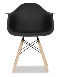 Eames Replica Designer Arm Chair (Black) - Armchairs ...