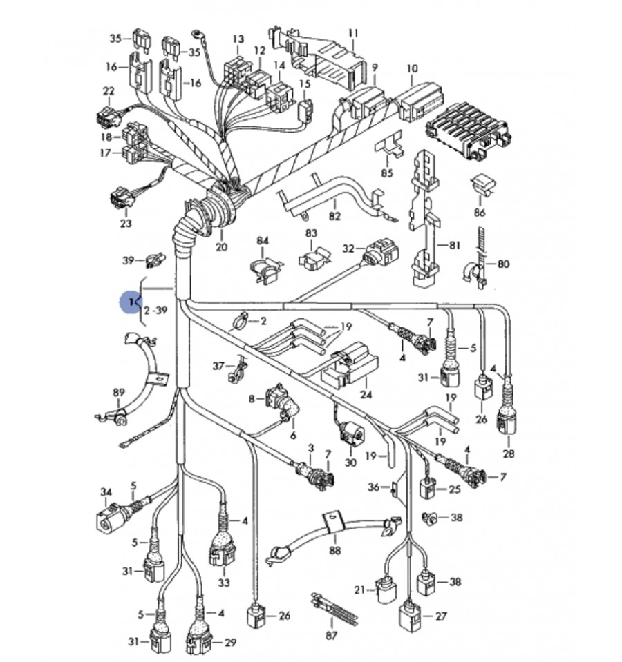 mini schema cablage moteur audi