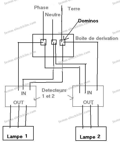 schema cablage for lights in series