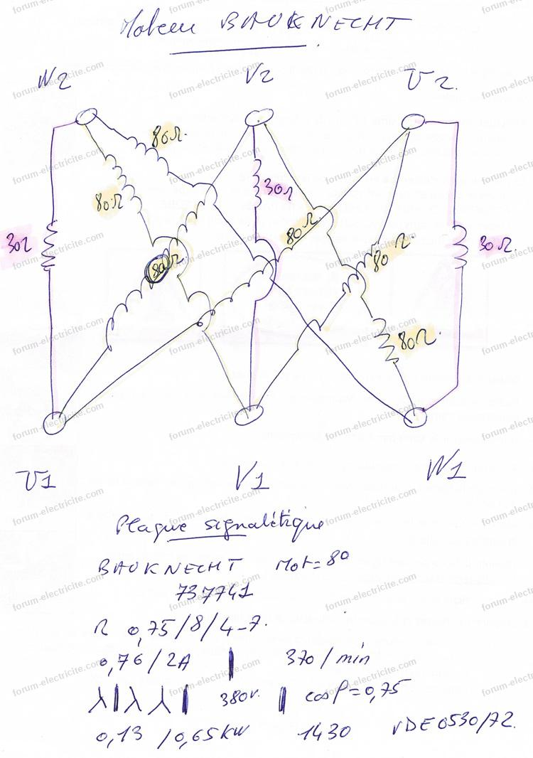 vector schema moteur asynchrone triphase