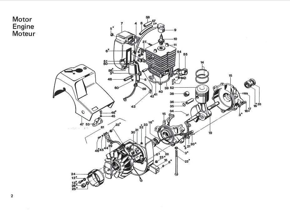 chainsaw Schema moteur