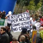Striscione alla Maratona di Firenze