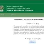 Antecedentes Judiciales – Consulta en línea