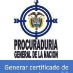Certificado de Antecedentes – Descargar e imprimir  Procuraduría