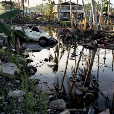 Scene of devastation in Barangay 56-A Tacloban January 6, 2014