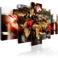Wandbilder xxl Weltkarte Reise Abstrakt Leinwand Bilder ...