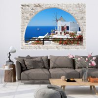 3D WALL ILLUSION WALLPAPER MURAL PHOTO PRINT A WINDOW VIEW ...