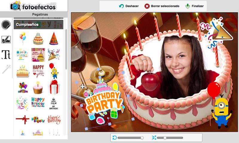 Tarjetas de cumpleaños online - Fotoefectos