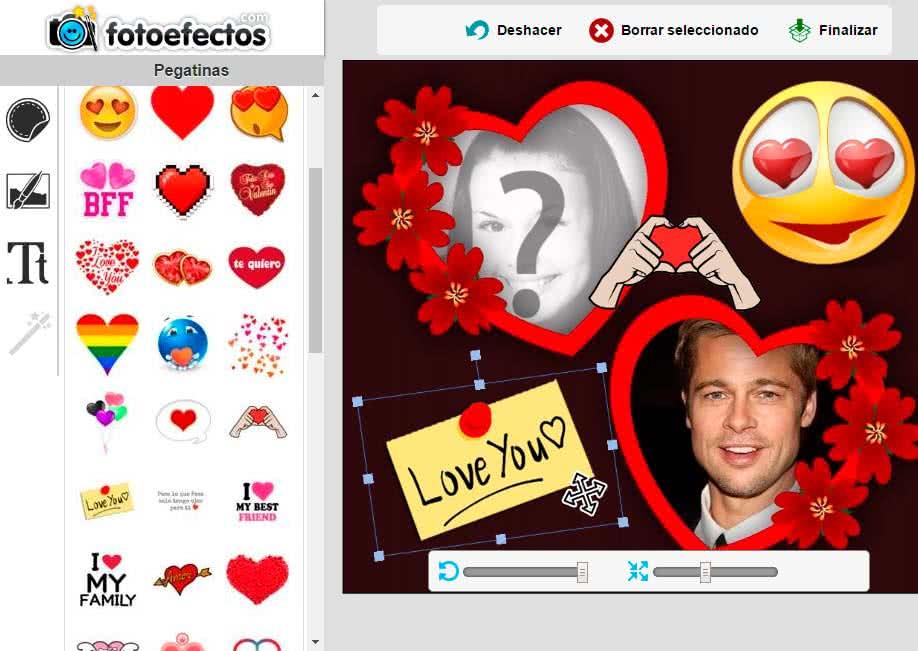Tarjetas de amor con tus fotos - Fotoefectos