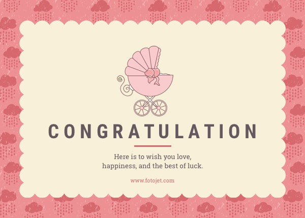 Baby Congratulations Cards - Create Free Printable Baby Greeting