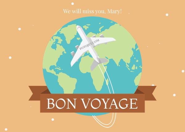 Bon Voyage Greeting Card Template Template FotoJet