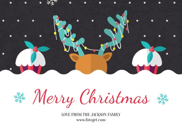 Merry Christmas Greeting Card Template Template FotoJet