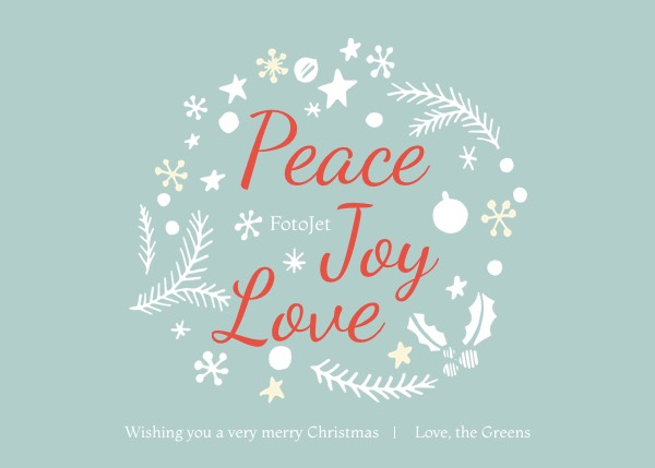 Love Merry Christmas Greeting Card Template Template FotoJet