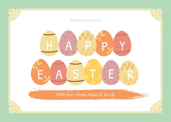 Happy Easter Greeting Card Template Template FotoJet - easter greeting card template