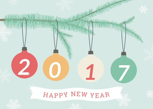 Creative New Year Greeting Card Template Template FotoJet
