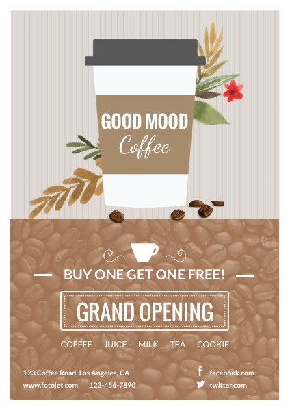 Cafe Grand Opening Flyer Template Template FotoJet - grand opening flyer