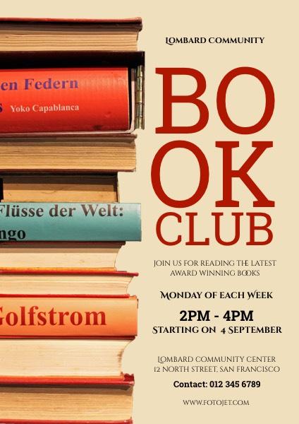 Book Club Recruitment Flyer Template Template FotoJet