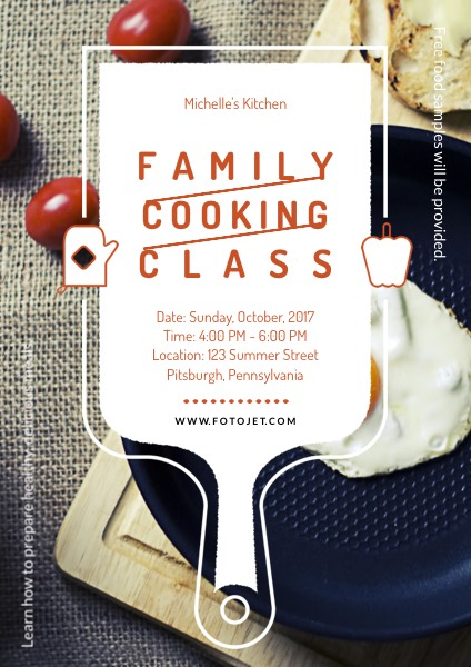 Cooking Class Promotional Flyer Template Template FotoJet