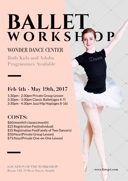 Dance Class Promotional Flyer Template Template FotoJet