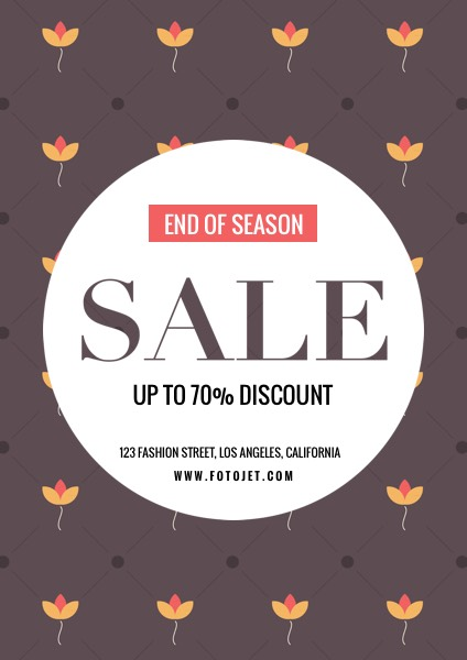 End of Season Sale Flyer Template Template FotoJet