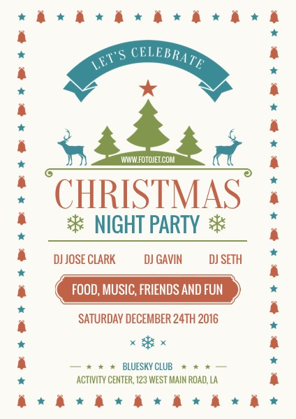 Merry Christmas Party Flyer Template Template FotoJet