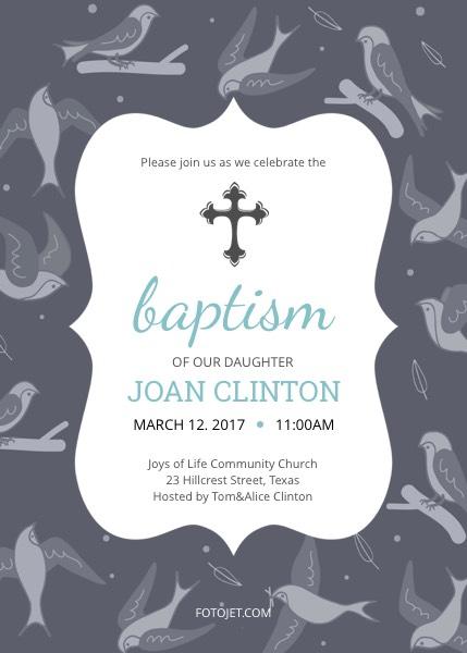Create Baptism Invitations and Christening Invitations Online FotoJet